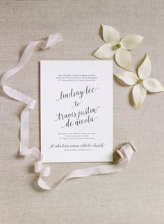 Simple + classic calligraphy invitations: http://www.stylemepretty.com/connecticut-weddings/middletown/2016/08/01/this-blush-hued-affair-is-what-romantic-dreams-are-made-of/ | Photography: Elena Wolfe - http://elenawolfe.com/