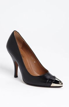 Donald J Pliner 'Ville' Pump available at #Nordstrom.  This could be a great alternative to just plain black shoe. This is a higher heel so more for going out, but i think comfy enough for the office.