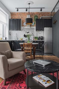25 The Best Kitchen Decor Design Ideas That Inspire Your Kitchen Renewal Today Apartment Interior, Apartment Design, Apartment Living, Kitchen Interior, Kitchen Decor, Kitchen Design, Studio Apartment, Kitchen Ideas, Casa Top