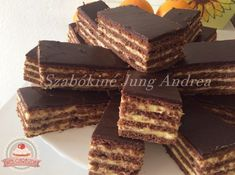 Hungarian Desserts, Hungarian Recipes, No Bake Desserts, Cake Cookies, Nutella, Sweet Recipes, Food Porn, Food And Drink, Cooking Recipes
