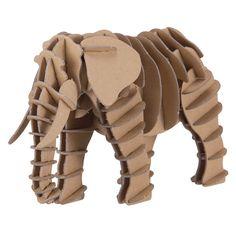 Cardboard elephant