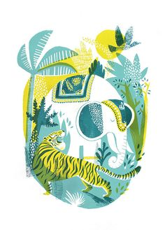 Essi Kimpimaki - Jungle // Original hand pulled screenprint