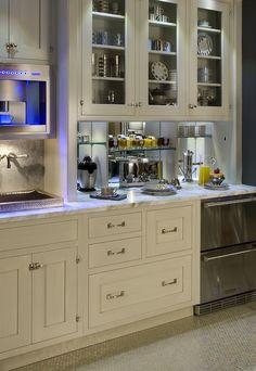 Kitchen breakfast station built in coffee machine amp drawer