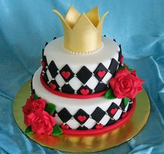 Queen of Hearts Cake by suzydoescakes