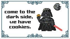 Darth Vader - Come to the Dark Side - PDF Cross-stitch pattern - Instant Download!
