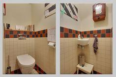 Badkamer hal en toilet in oude stijl streker tegelhuis streker