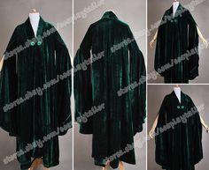 Harry Potter Cosplay Minerva McGonagall Cosplay Costume Dark Green Cloak Trench