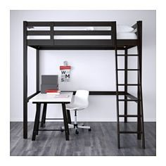 STORÅ Loft bed frame, black - Full/Double - IKEA