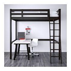 STORÅ Loft bed frame, black - Full/Double - IKEA