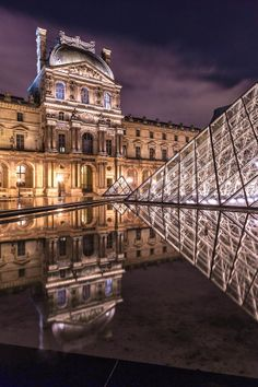 ~~Reflection, The Louvre, Paris, France by Europe Trotter~~ A perfect blend of classic and modern. Places Around The World, Oh The Places You'll Go, Places To Travel, Places To Visit, Around The Worlds, Travel Destinations, Monaco, Louvre Paris, Montmartre Paris