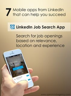 Use LinkedIn Job Search App and search for job openings based on relevance, location and experience. Read our blog to know more: [Click on the image] ‪#‎omagency‬ ‪#‎linkedIn‬ ‪#‎mobile‬