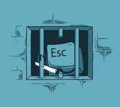 Sai a cosa serve il tasto #Esc ? #tastiera #escape #computer #pc