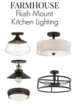 No room for pendant lighting in your small kitchen? Here are 8 flush mount kitchen lighting fixture ideas that will add that farmhouse style to your space. | Chatfield Court