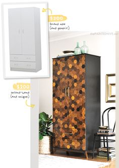 wardrobe makeover from The painted Hive