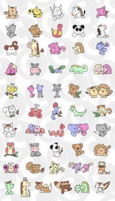 Cute Kawaii Drawings, Cartoon Drawings, Cartoon Art, Easy Drawings For Kids, Drawing For Kids, Art For Kids, Little Doodles, Cute Doodles, Imprimibles Halloween