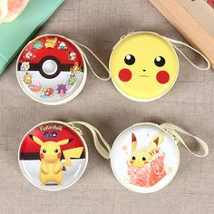 Lovely Pattern Pokemon Go Pikachu Mix Coin Wallet Purses Bags Headset Package