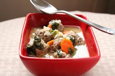 Living Low Carb...One Day at a Time: Italian Wedding Soup (Low Carb and Gluten Free)