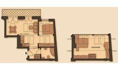 Na sprzedaż ostatnie mieszkania w kamienicy w jednej z najbardziej prestiżowych lokalizacji Krakowa !Kamienica w trakcie gruntownego remontu, ostatnie mieszkania na sprzedaż !Lokalizacja: Kraków, Stare Miasto - rejon ul. Retoryka / SmoleńskLokal z dużym balkonem, z możliwością aranżacji na mieszkanie z antresolą 2- lub 3-pokojowe bądź typu studio. Lokal znajduje się na piętrze 4 (poddaszu) / 4-piętrowego budynku od strony podwórka. W budynku zostanie zamontowana winda.- powierzchnia… Larp, Floor Plans, Floor Plan Drawing, House Floor Plans