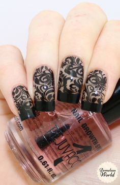 Negative Space Stamping Nail Art with UberChic Beauty Collection 7. I LOVE this…