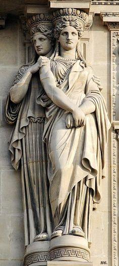 Double Caryatids. Sully Pavillon. Louvre museum. http://hadrian6.tumblr.com