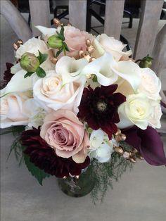 Wintry Merlot Wedding