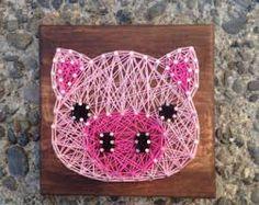 Pig string art