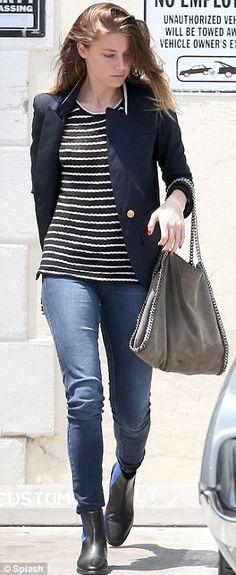 Amber Heard; Casual Winter Style