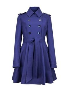 Ted Baker Moriah double breasted coat Purple - House of Fraser