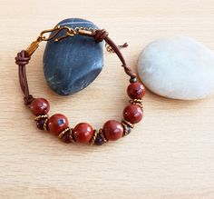 Male jasper mookite bracelet, Unisex bracelet, Brown stone jewellery, Handmade bracelet, Women bracelet, Teenager jeweller, Male gift, gift by SweetgemsDesign on Etsy
