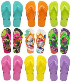 Sandálias Havaianas. Confortáveis e bonitas