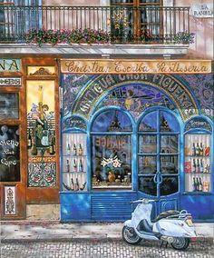 """Liudmila Kondakova (Russian/American, born 1956) """"Barcelona, Antigua Casa Figueras"""""""