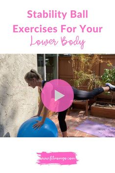 Lower Body Stability Ball Exercises #lowerbodyexercises #workoutballexercises #stabilityballexercises #workoutvideos #workoutsforwomen Short Workouts, Cardio Workouts, Workout Tips, Workout Videos, At Home Workouts, Health And Fitness Tips, Health Tips, Stability Ball Exercises, Post Pregnancy Workout