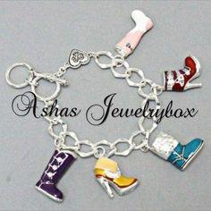 Boot glam charm bracelet $16