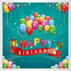 Birthday Posts, Man Birthday, Happy Birthday Cards, Birthday Blessings, Aesthetic Template, Art Decor, Birthdays, Clip Art, Illustration Vector