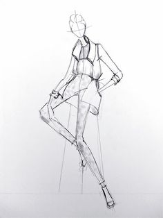Fashion illustration - fashion design sketch // Alessandra De Gregorio
