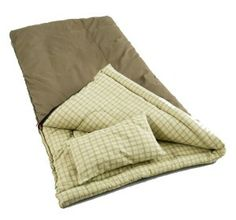 The Coleman Big Game Sleeping Bag With Pillow is a great choice for winter camping and other cold conditions. With six pounds of Coletherm insulation, the Big Game Sleeping Bag will keep you warm down to Measuring wide … Continue reading → Tent Camping, Camping Gear, Motorcycle Camping, Camping Outdoors, Hiking Tent, Camping Essentials, Camping Hacks, Outdoor Camping, Camping Trailers