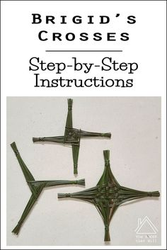 Brigid's Cross, Triskele, and Celtic Binding knot instructions all included. Can also use straws or colorful wire to make these! St Bridget's Cross, St Brigid Cross, Wiccan, Witchcraft, Imbolc Ritual, Irish Blessing, Irish Celtic, Irish Traditions, Sabbats