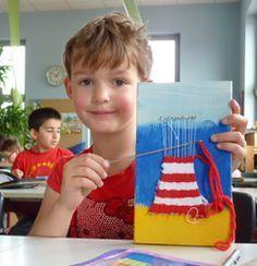 leuchtturm weben 2019 leuchtturm weben The post leuchtturm weben 2019 appeared first on Weaving ideas. Crafts For Boys, Projects For Kids, Diy For Kids, Weaving For Kids, Weaving Projects, Summer Crafts, Creative Kids, Art Plastique, Elementary Art