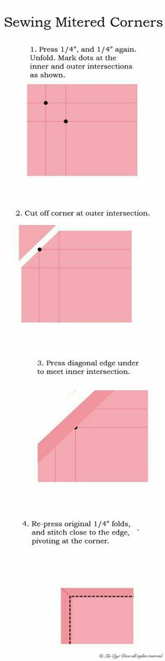 How to sew mitered corners