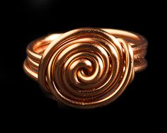 Handmade copper wire swirl ring by RadFabrications on Etsy, $10.00