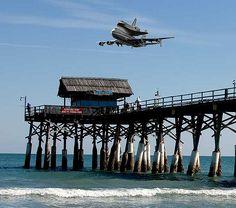 "https://flic.kr/p/4cShS | Shuttle Returns Home | Over the Cocoa Beach Pier 8/21/05  One of ""most Interesting"" group 8/22/05"