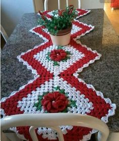 Holly & Berries Afghan And |