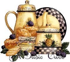 More pictures of Tea Decoupage - Kitchen decor ideas Decoupage Vintage, Vintage Diy, Decoupage Ideas, Illustrations Vintage, Image Deco, Diy And Crafts, Paper Crafts, 3d Paper, Art Carte