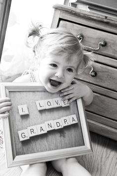 Cute idea for grandparents, aunts, uncles...