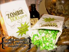 Zombie BOOger recipe & Printable!