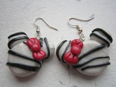 Micky Mouse Earrings polymer clay earrings by EveryGirlsBestFriend, $5.00