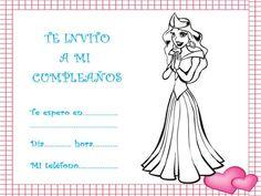 Invitaciones de cumpleaños con dibujos para imprimir de princesas Baby Blue, Photos
