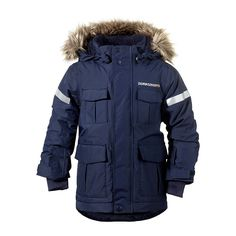 The Didriksons Nokosi kids parka jacket is fully waterproof, breathable, windproof and very warm with its thick padding inside. Kids will love the three quarter length that dips at the back hem protecting them against whatever the weather can throw at them this winter. Fabric: Shell: 100% Polyamide Weave, Waterproof to >2000mm after 3 washes Coating PFC Free WR finish Taffeta lining 160g padding Features: Storm System design, developed for particularly harsh weather, this Parka is fully…