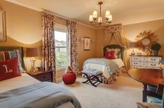 bedroom, children's room with two single beds, sun mirror