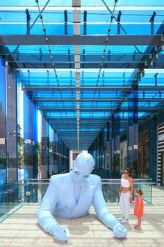 "USA, Florida, Miami, Miami design District, sculpture "" Le Corbusier"" by Xavier Veilhan ©Ludovic Maisant"